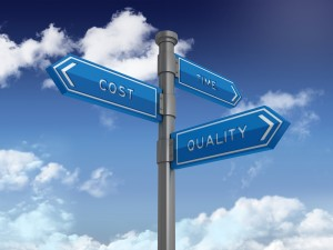 COST TIME QUALITY